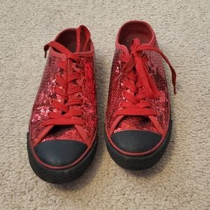 Red and Black Sparkily Shoes